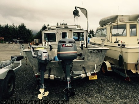 23 ft all aluminum Svendsen all aluminum bout w/trailer & skiff