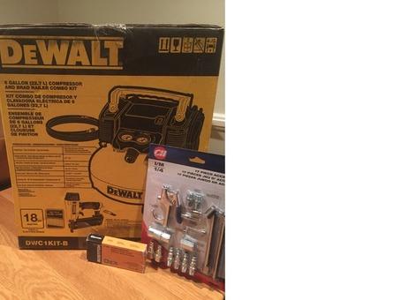 Dewalt compressor and Brad nailer combo kit