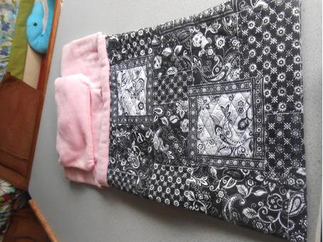 Hand made doll sleeping bag