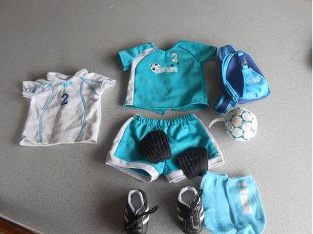 American girl doll soccer set (For doll)