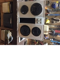 "Used Jennair 30"" electric cooktop with downdraft fan"
