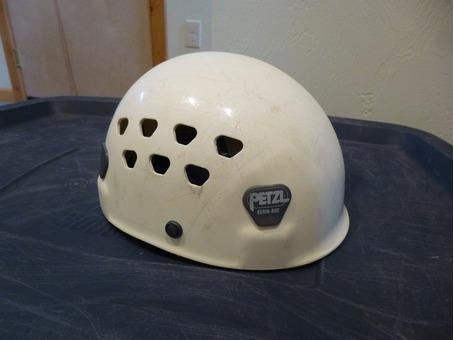climbing helmet, avy probe pole, adjustable poles